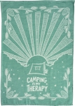 Camping Is My Therapy Cotton Dish Towel 28x20 from Primitives by Kathy