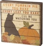 Cat Lover I'll Be Watching You Decorative Wooden Box Sign 6x6 from Primitives by Kathy