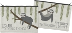 Sloth Design Say No To Doing Things Zipper Pouch Travel Handbag from Primitives by Kathy