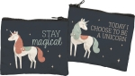 Today I Choose To Be A Unicorn Zipper Wallet Travel Pouch from Primitives by Kathy