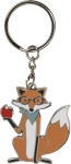 Fox Themed Teaching Is A Work Of Heart Enamel Key Chain from Primitives by Kathy
