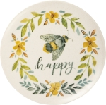 Bee Happy Decorative Plate 9 Inch from Primitives by Kathy