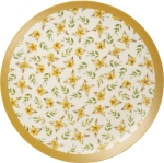 Watercolor Artwork Floral Design Dinner Plate 11 Inch from Primitives by Kathy