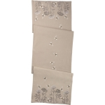 Embroidered Floral & Bee Design Decorative Cotton Table Runner Cloth 52x15 from Primitives by Kathy