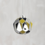Faceted Mirror Gold Hanging Glass Christmas Ornament from Primitives by Kathy