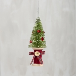 Christmas Tree On Spool Hanging Ornament 6.5 Inch from Primitives by Kathy
