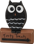Owl Design Tasty Treats Decorative Wooden Sign 5x6 from Primitives by Kathy