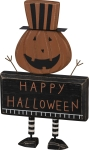 Jack-O-Lantern Happy Halloween Wooden Sign 11x6.5 from Primitives by Kathy