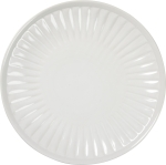 Fluted Large Cream Colored Stoneware Salad Plate 9.5 Inch Diameter from Primitives by Kathy