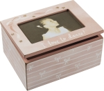 Ballerina I Love To Dance Decorative Keepsake Box With Photo Picture Frame (Holds 6x4 Photo) from Primitives by Kathy
