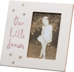 Our Little Dancer Decorative Plaque Photo Picture Frame (Holds 4x6 Photo) from Primitives by Kathy