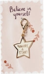 Star Shaped You Are A Star Enamel Charm & Backer Card from Primitives by Kathy