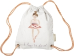 Ballerina Design I Love To Dance Cotton Drawstring Bag from Primitives by Kathy