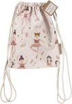 Ballerina & Swan Dance Cotton Drawstring Bag from Primitives by Kathy