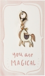Unicorn Shape You Are Magical Enamel Charm & Backer Card from Primitives by Kathy