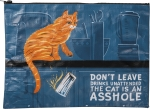 Cat Lover Don't Leave Drinks Unattended Double Sided Zipper Folder Bag from Primitives by Kathy