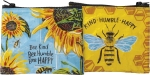 Bee Kind Bee Humble Bee Happy Double Sided Zipper Wallet from Primitives by Kathy