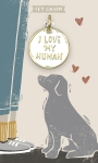 I Love My Human Dog Collar Pet Charm on Backer Card from Primitives by Kathy