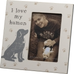 Dog Lover I Love My Human Decorative Photo Picture Frame (Holds 4x6 Photo) from Primitives by Kathy