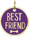 Best Friend Hard Enamel Dog Collar Pet Charm from Primitives by Kathy