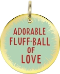 Adorable Fluff-Ball Of Love Hard Enamel Dog Collar Pet Charm from Primitives by Kathy