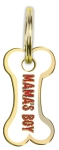 Mama's Boy Hard Enamel Dog Collar Pet Charm from Primitives by Kathy