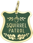 Squirrel Patrol Hard Enamel Dog Collar Pet Charm from Primitives by Kathy
