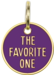 The Favorite One Hard Enamel Dog Collar Pet Charm from Primitives by Kathy