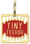 Tiny Terror Hard Enamel Dog Collar Pet Charm from Primitives by Kathy