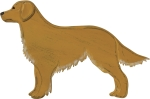 Wooden Golden Retriever Hanging Wall Décor from Primitives by Kathy