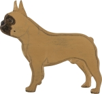 Wooden French Bull Dog Hanging Wall Décor from Primitives by Kathy