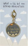 One Grand Adventure Enamel Charm & Backer Card from Primitives by Kathy