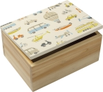 Away We Go Decorative Hinged Wooden Keepsake Box 8x6 from Primitives by Kathy