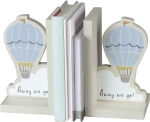 Hot Air Balloon Away We Go Wooden Bookends Set from Primitives by Kathy