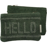 Stonewashed Canvas Hello Zipper Pouch Travel Bag from Primitives by Kathy