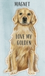 Love My Golden Retriever Decorative Refrigerator Magnet from Primitives by Kathy