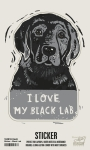 Set of 6 I Love My Black Lab Decorative Stickers 2.50x3.75 from Primitives by Kathy