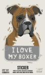 Set of 6 Dog Lover I Love My Boxer Decorative Stickers 2.50x4 from Primitives by Kathy