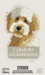 Set of 6 I Love My Goldendoodle Decorative Stickers 2.50x3.75 from Primitives by Kathy