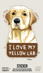 Set of 6 I Love My Yellow Lab Decorative Stickers 2.50x3.75 from Primitives by Kathy