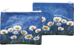 Daisy Flower Design This Is My Happy Place Double Sided Zipper Wallet from Primitives by Kathy