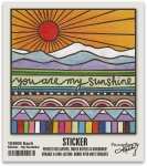 Set of 6 You Are My Sunshine Decorative Stickers 2x2 from Primitives by Kathy