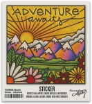 Set of 6 Adventure Awaits Decorative Stickers 2x2 from Primitives by Kathy
