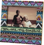 Woodburned Art Design You Are My Sunshine Decorative Photo Picture Frame (Holds 6x4 Photo) from Primitives by Kathy
