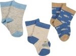 Set of 3 Under The Sea Blue Cotton Baby Socks (Shoe Size 0-1) from Primitives by Kathy