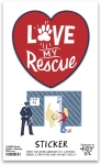 Set of 6 Pet Lover Love My Rescue Decorative Stickers 2.50x2.50 from Primitives by Kathy