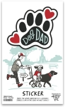 Set of 6 Dog Lover Dog Dad Decorative Stickers 2.50x2.25 from Primitives by Kathy