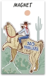 No Prob-llama Decorative Refrigerator Magnet on Backer Card from Primitives by Kathy
