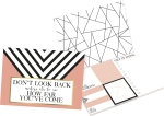 Geometric Design Don't Look Back You're Not Going That Way Sticky Note Set (480 Notes) from Primitives by Kathy
