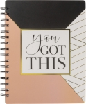Geometric Design You Got This Spiral Notebook (120 Lined Pages) from Primitives by Kathy